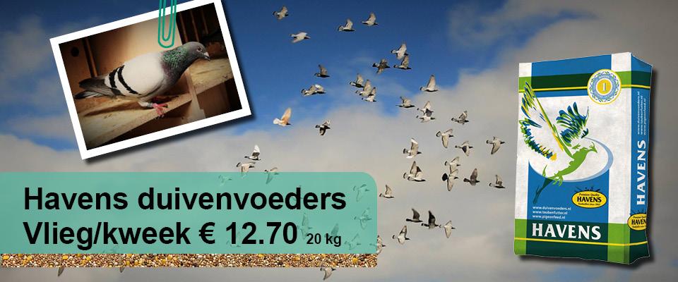 Ruim assortmiment Havens duivenvoeders